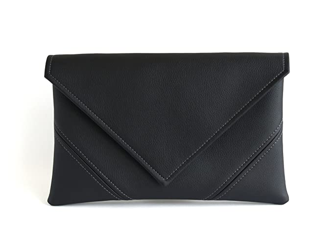 7f7c1267797 Amazon.com: Black Clutch Purse Handmade Bridesmaid Clutch Bag Evening Bag  Vegan Leather Clutch Gift For Her Vegan Bag Evening Clutch Vegan Purse Black  ...