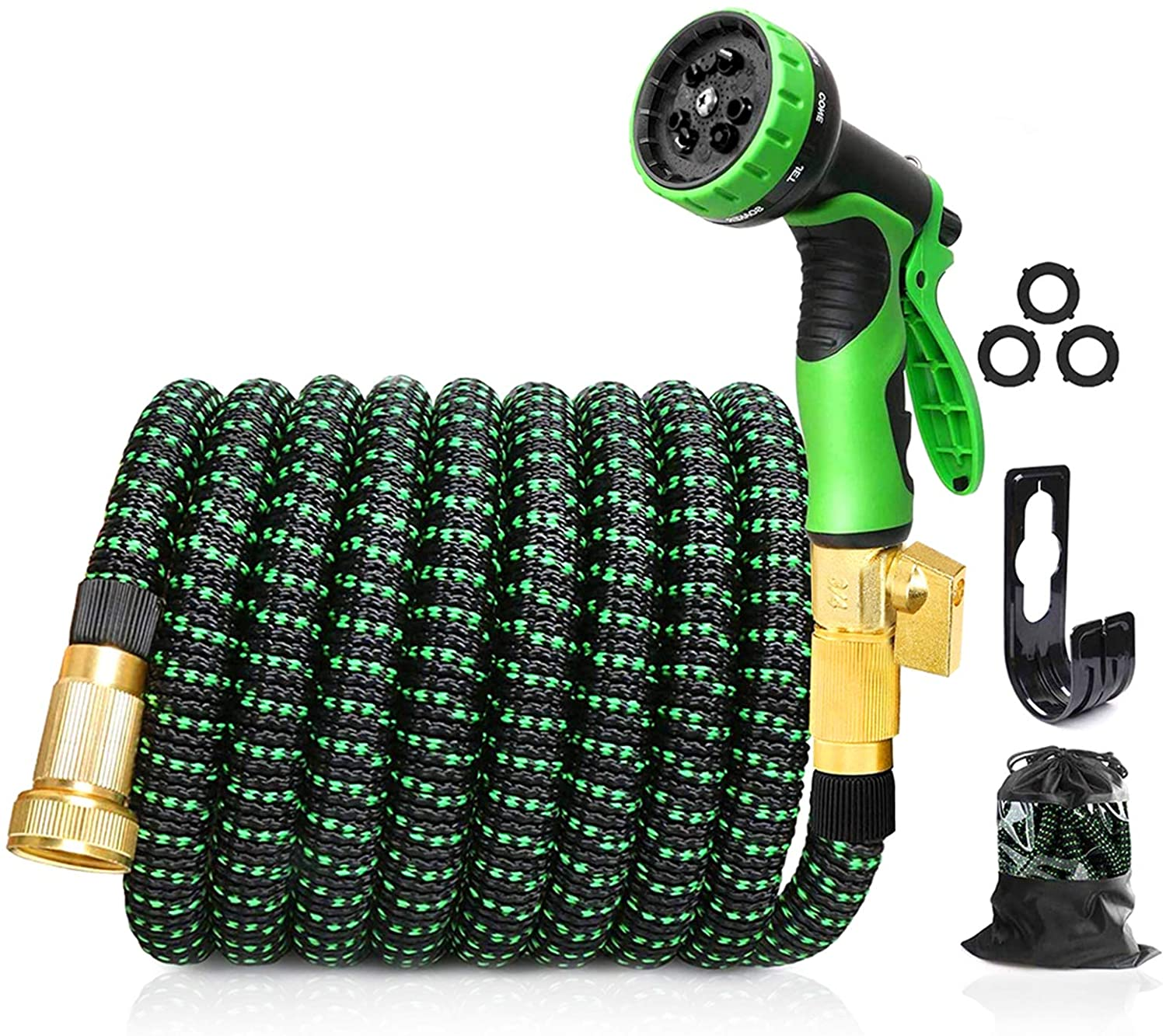 Upgraded Expandable Garden Hose, 100 FT, 3/4