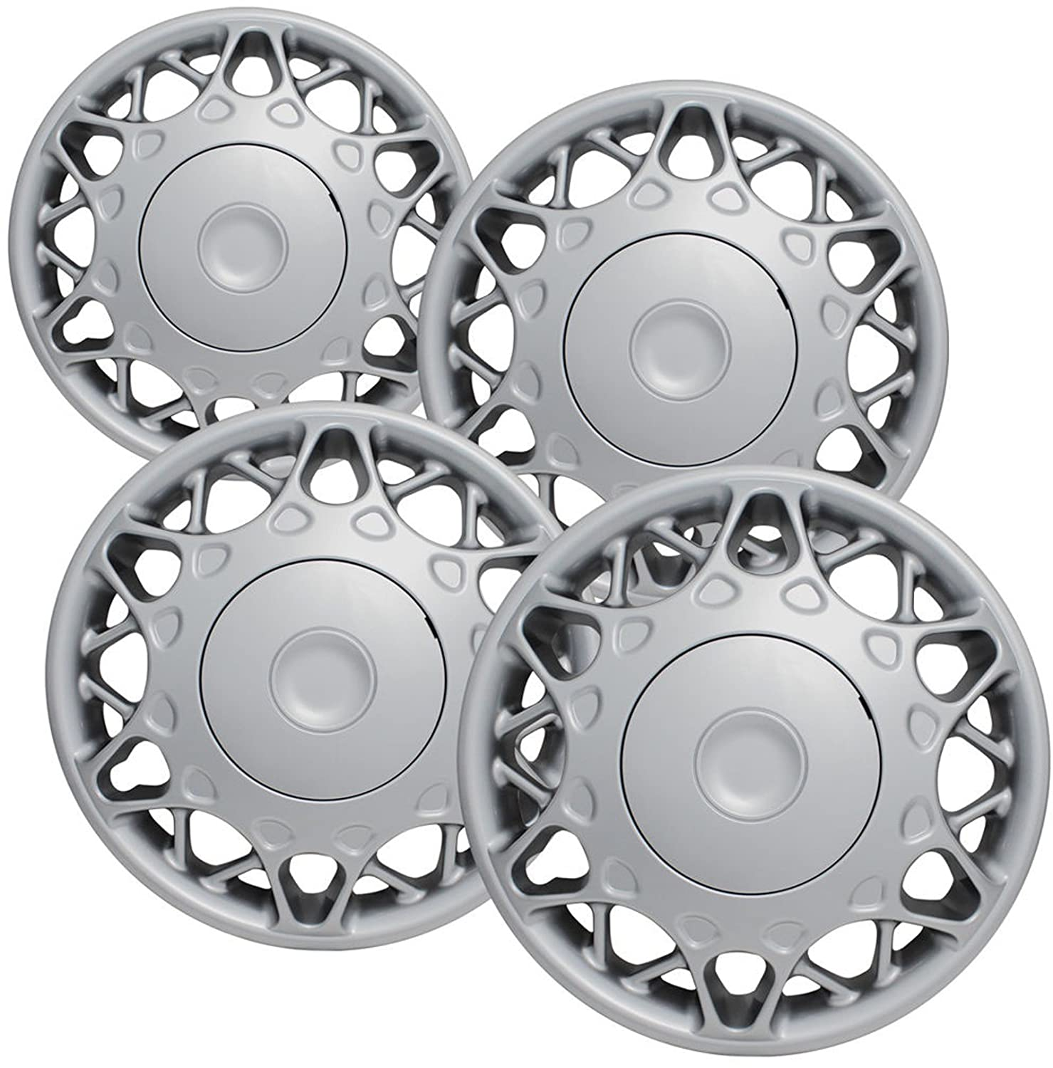Amazon.com: CCI IWC441-15S 15 Inch Bolt On Silver Lacquer Finish Hubcaps - Pack of 4: Automotive