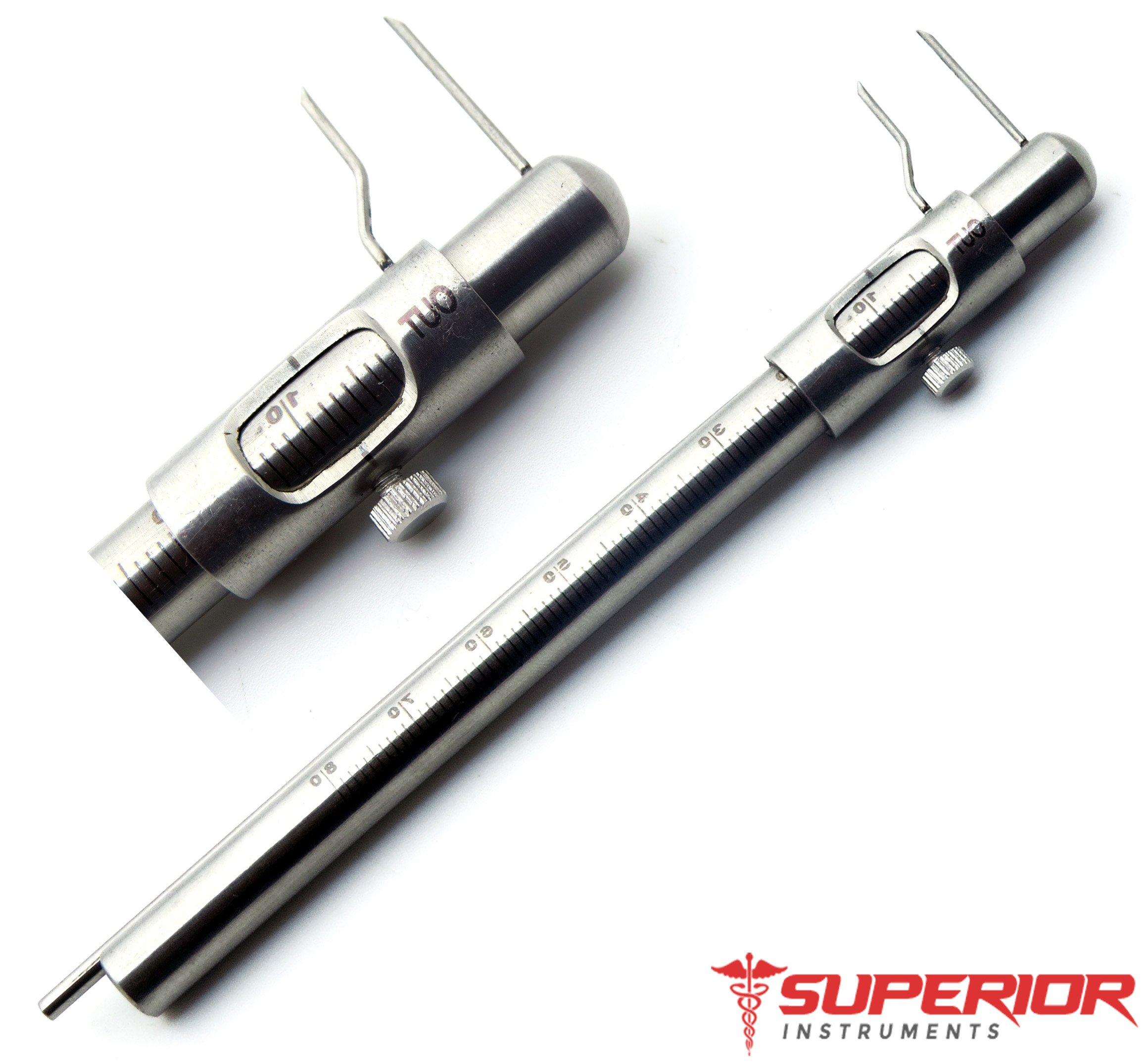 Micro Boley Gauge Material Teeth Size Measurement Restorative Dental Stainless Steel Instruments