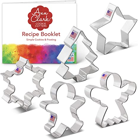 Ann Clark 3 Pc Shamrock Cookie Cutter Set Recipe Booklet