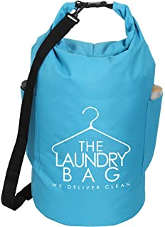 ITIDY Laundry-Bag,45L Waterproof Carry Handy Roll Up Laundry Hamper Backpack with Strong
