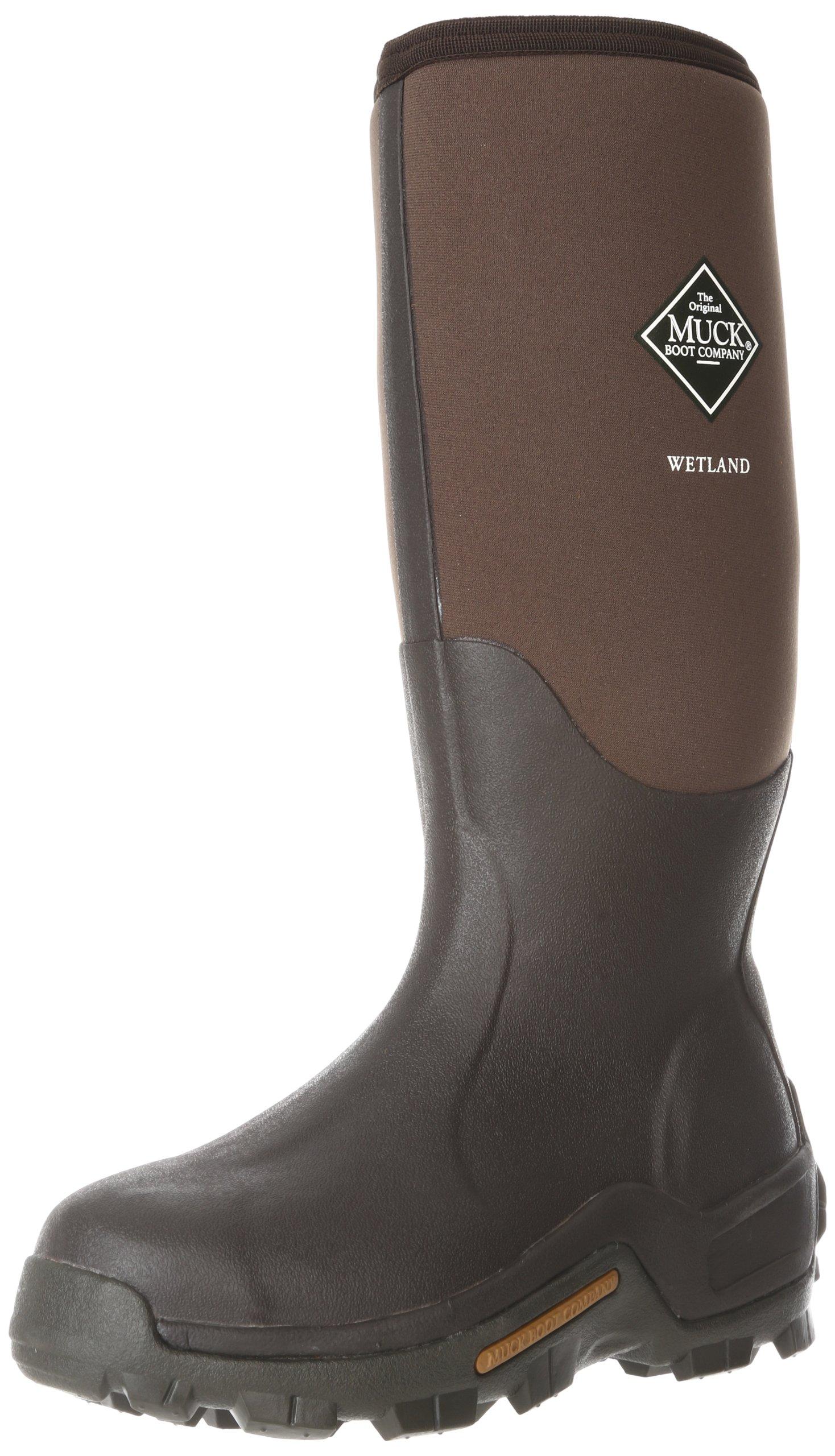 Muck Wetland Rubber Premium Men's Field Boots,Bark,Men's 14 M/Women's 15 M by MuckBoots