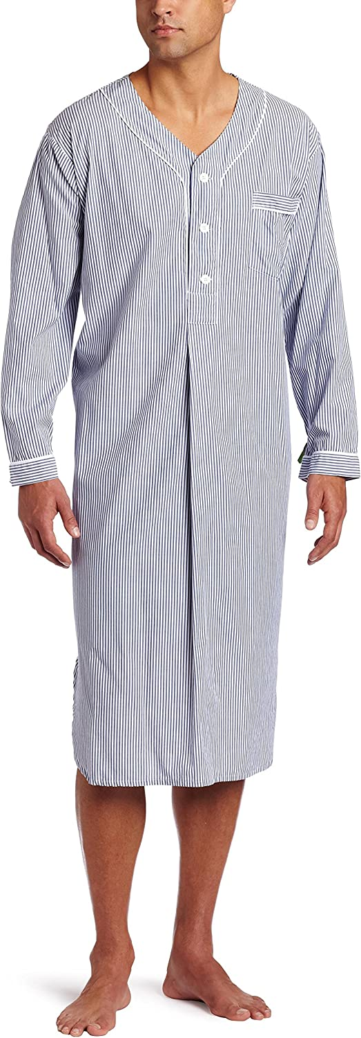 Majestic International Men's Bengal Striped Nightshirt