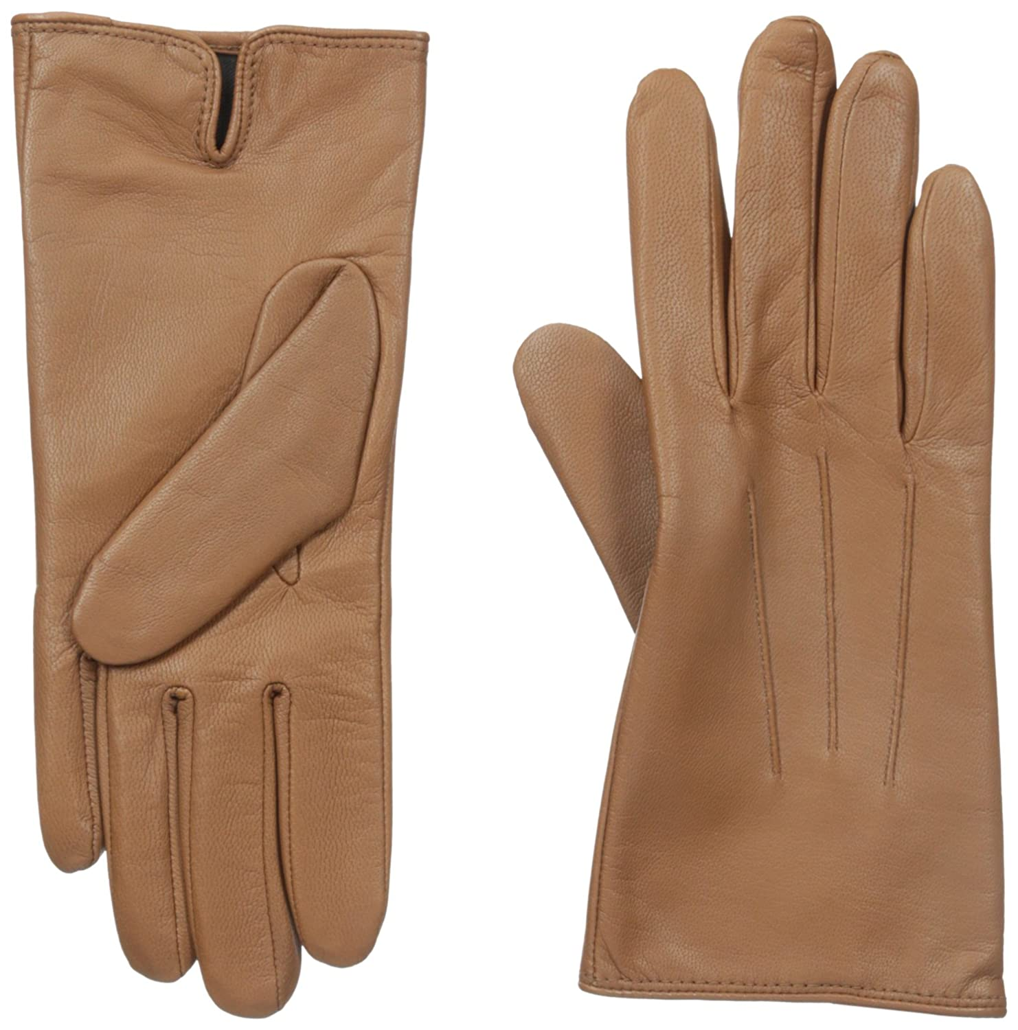 Ladies leather gloves isotoner - Amazon Com Isotoner Women S Smartouch Leather Glove Brown 7 5 Clothing