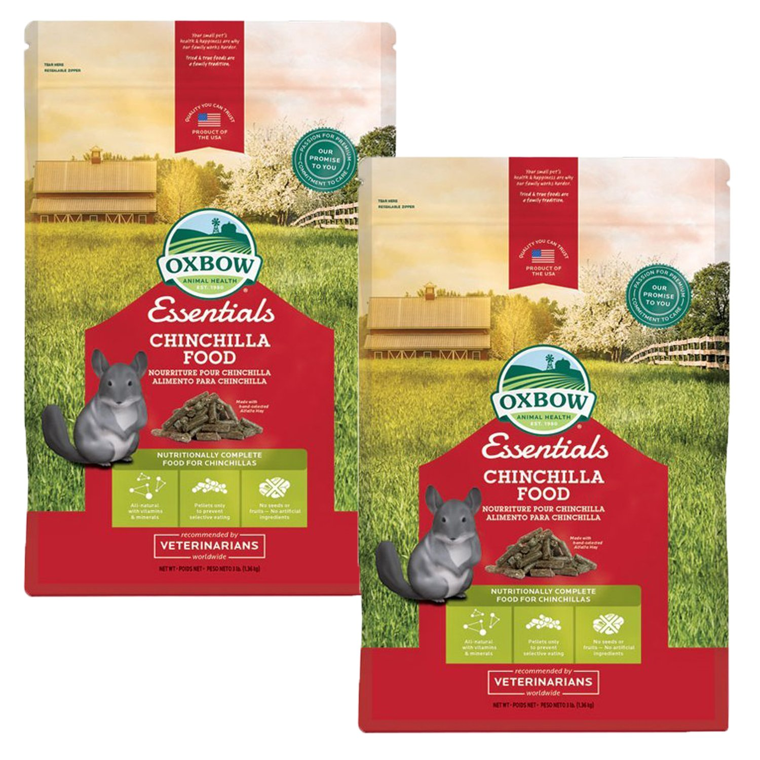 Oxbow Essentials - Chinchilla 3lb, 2 Pack by Oxbow