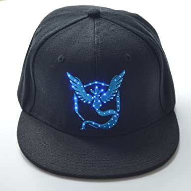 baseball cap with led lights in brim uk new light up go hat team mystic flash blue