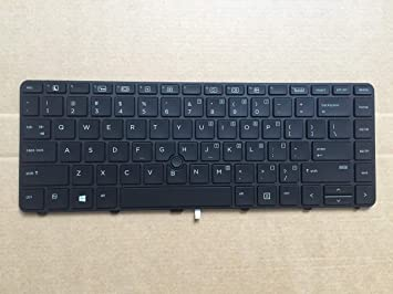 New Genuine HP ProBook 640 G2 645 G2 430 G4 440 G4 US Keyboard Backlit with Frame 818358-001