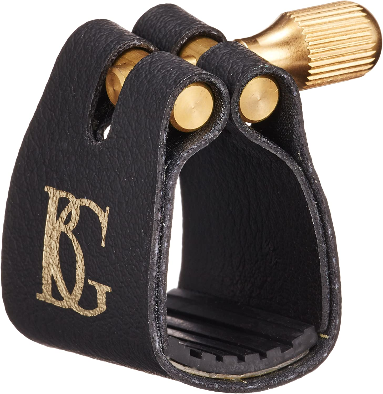 BG Alto Sax Ligature and Cap L12 Leather Style