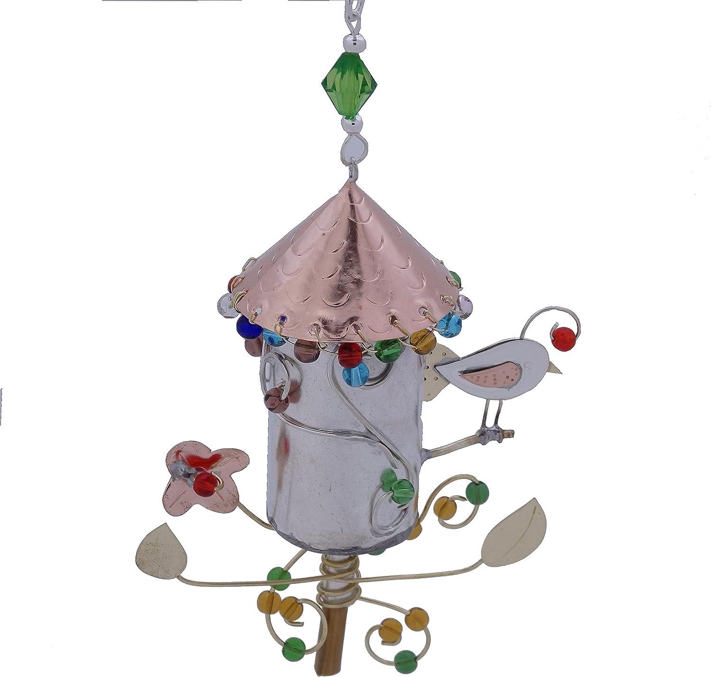 Bird Feeder Woodland Retreat Bronze Nickel and Copper Hanging Ornament Garden Planter Handmade Gift Boxed