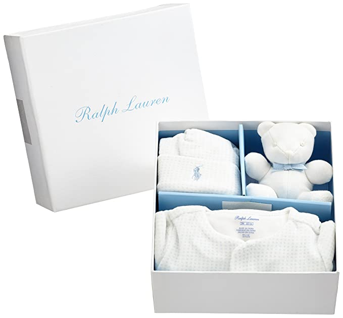 33a7dafd9e5d Ralph Lauren Polo Baby Velour AC-GBX Gift Box Set Footies, Beige (Natural  101), Newborn  Amazon.co.uk  Clothing