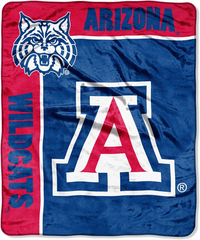 Officially Licensed NCAA School Spirit Plush Raschel Throw Blanket 50 x 60 Multi Color
