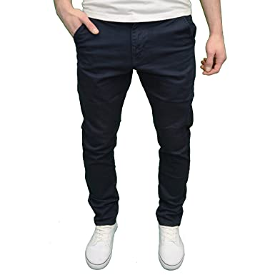 4894130f Enzo Mens Designer Branded Slim Fit Chino Jeans, Available in 5 Colours  (28W x