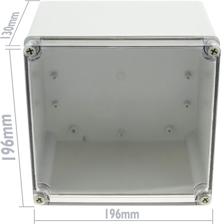 BeMatik MF066 Bo/îtier de raccordement /électrique en plastique ABS /étanche IP65 Transparent 196 x 196 x 130 mm