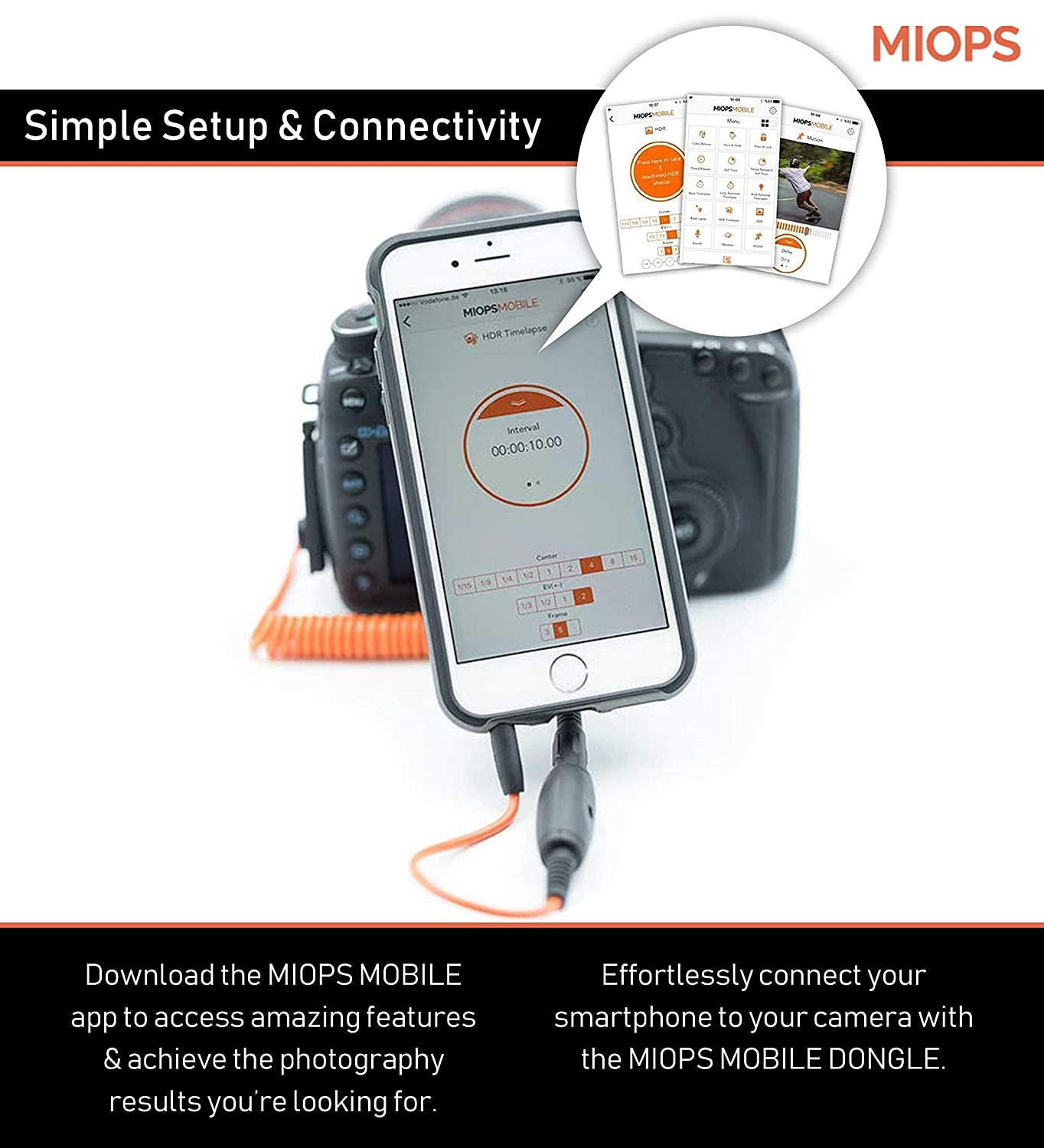 Miops Mobile Dongle Kit for Canon C2/Orange