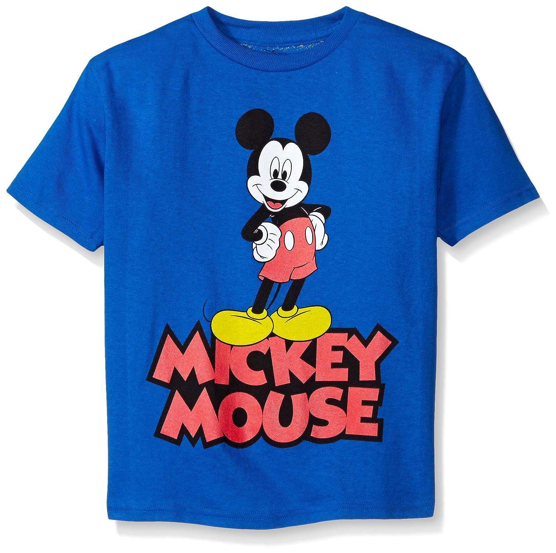 Disney Boys Little Boys Classic Mickey Mouse Short Sleeve Tee Freeze Children's Apparel ZFSB348-04J
