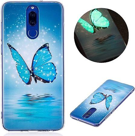 CaseLover Cover Huawei Mate 10 Lite, Nottilucenti Luminoso TPU Silicone Custodia per Huawei Mate 10 Lite Ultra Sottile Fluorescente Flessibile ...