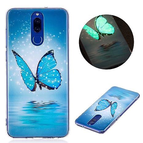 enorme sconto 50647 31022 Cover Huawei Mate 10 Lite, CaseLover Nottilucenti Luminoso TPU Silicone  Custodia per Huawei Mate 10 Lite Ultra Sottile Fluorescente Flessibile ...