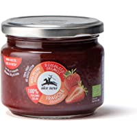 Alce Nero Organic Strawberry Jam   Made with over 100g Fruit per 100g Product   No Added Sugar   Pectin Free   No…