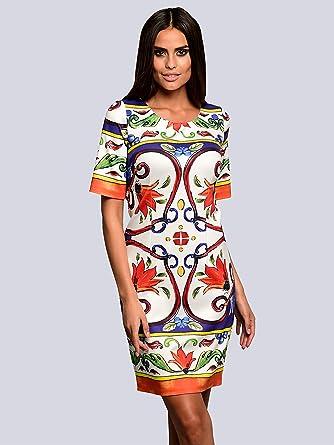 factory authentic cheap for sale hot product Alba Moda Damen Kleid mit ausdrucksstarkem Print Formstabil ...