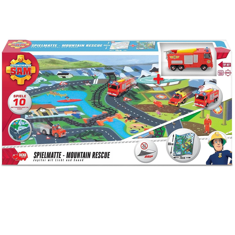 Unbekannt Feuerwehrmann Sam Spielteppich Mit Mountain Rescue Motiven