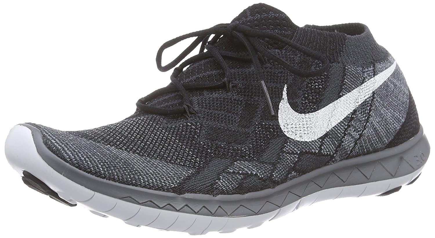 new product 834fa 6b667 Nike WMNS FREE 3.0 FLYKNIT womens running-shoes 718420 (7.5 B(M) US,  BLACK/WHITE-ANTHRACITE-DARK GREY)