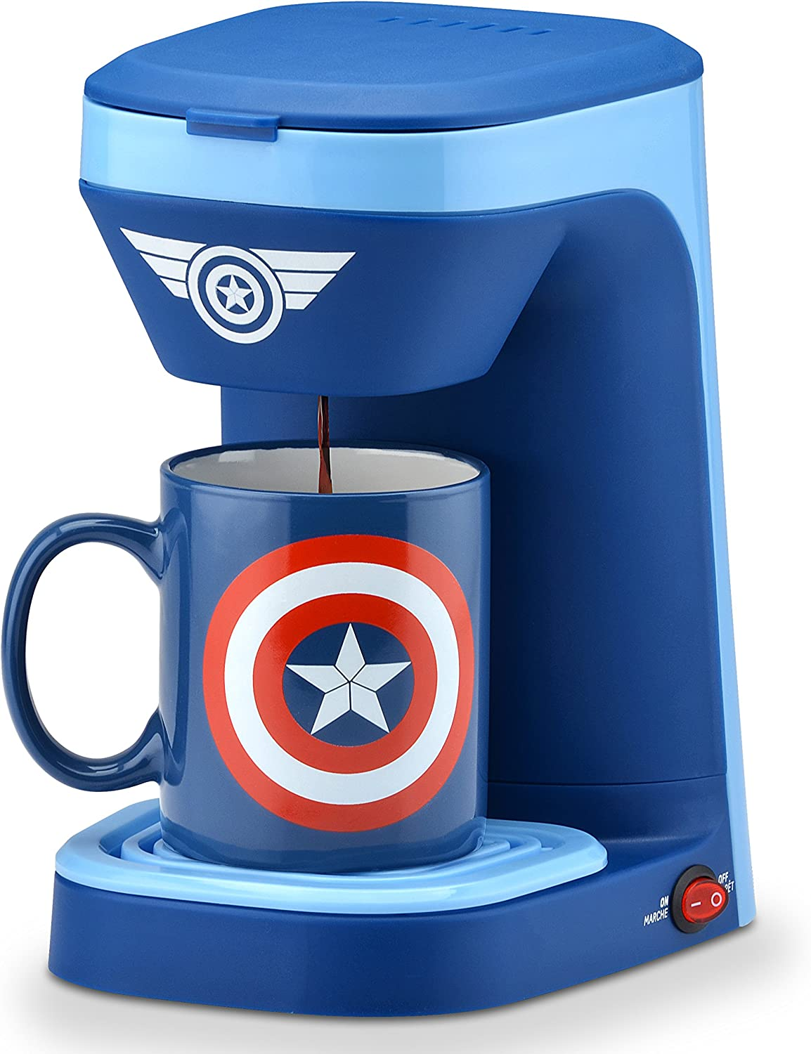marvel captain america coffee maker