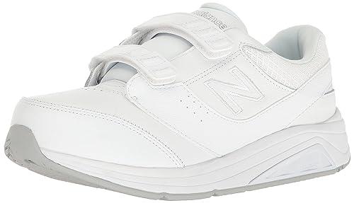Zapatillas para caminar 928v3 para mujer, gancho / lazo blanco / blanco, 8 B US: Amazon.es: Zapatos y complementos