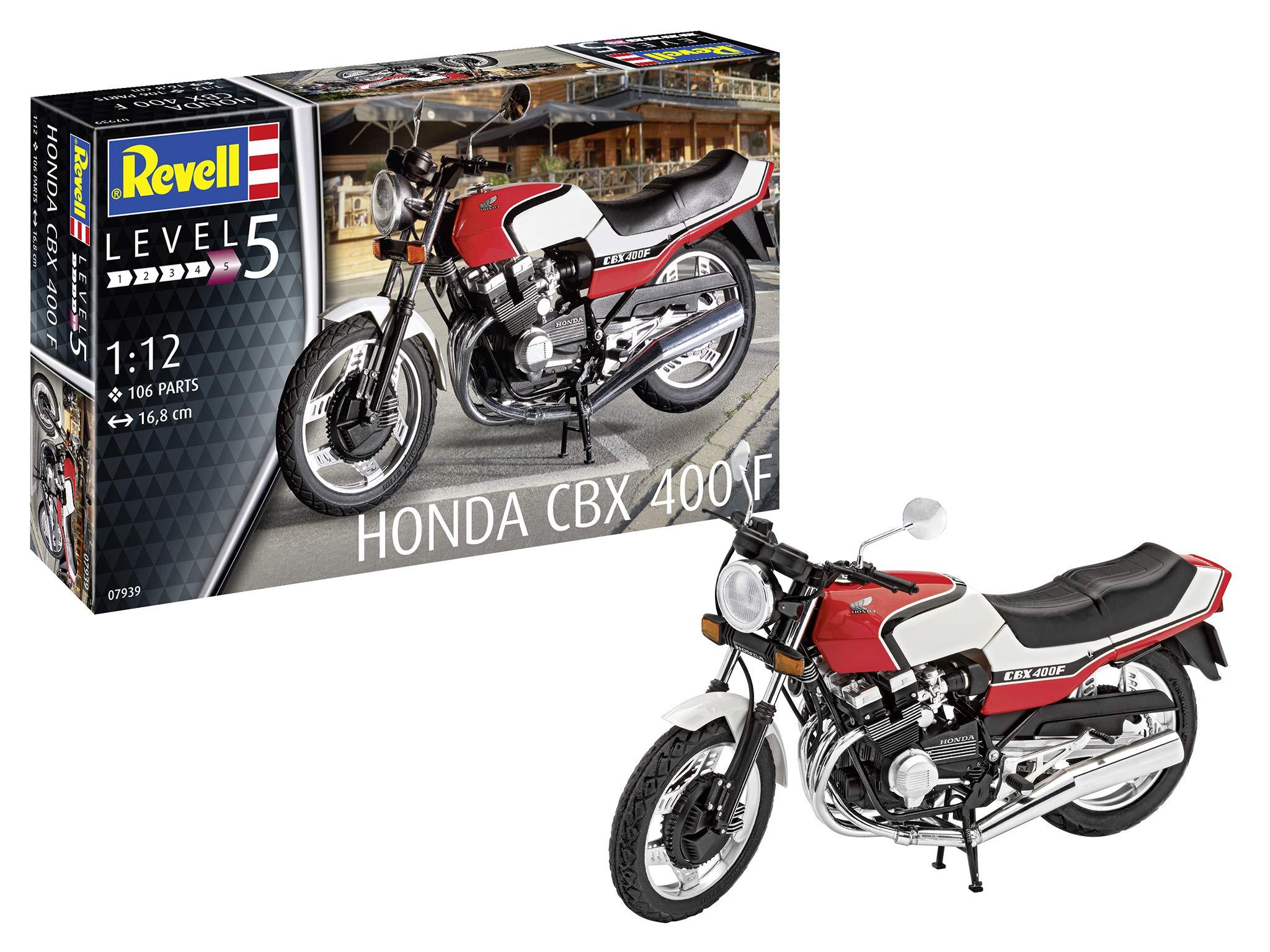 Revell GmbH 07939 Honda CBX 400 F Plastic Model Kit, White, 1:12