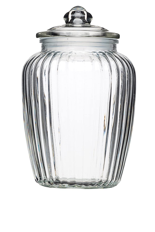 KitchenCraft Home Made Small Glass Storage Jar 600 ml 1 Pint