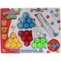 Changeful insert ball game for imagination with Design booklet inside