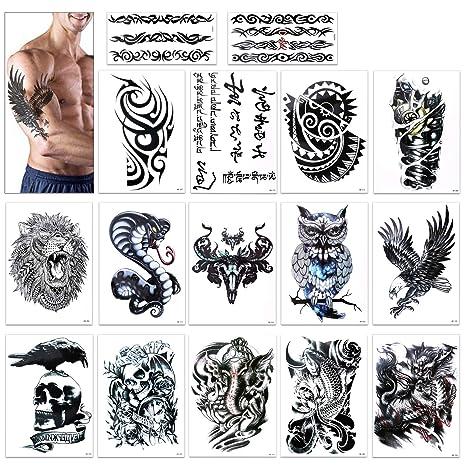 Tatuajes Temporales Para Adultos Hombres Konsait Grande Tatuaje