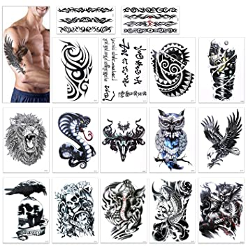 Wolf Temporary Tattoo Stickers Waterproof Women Fake Hand Animal ...