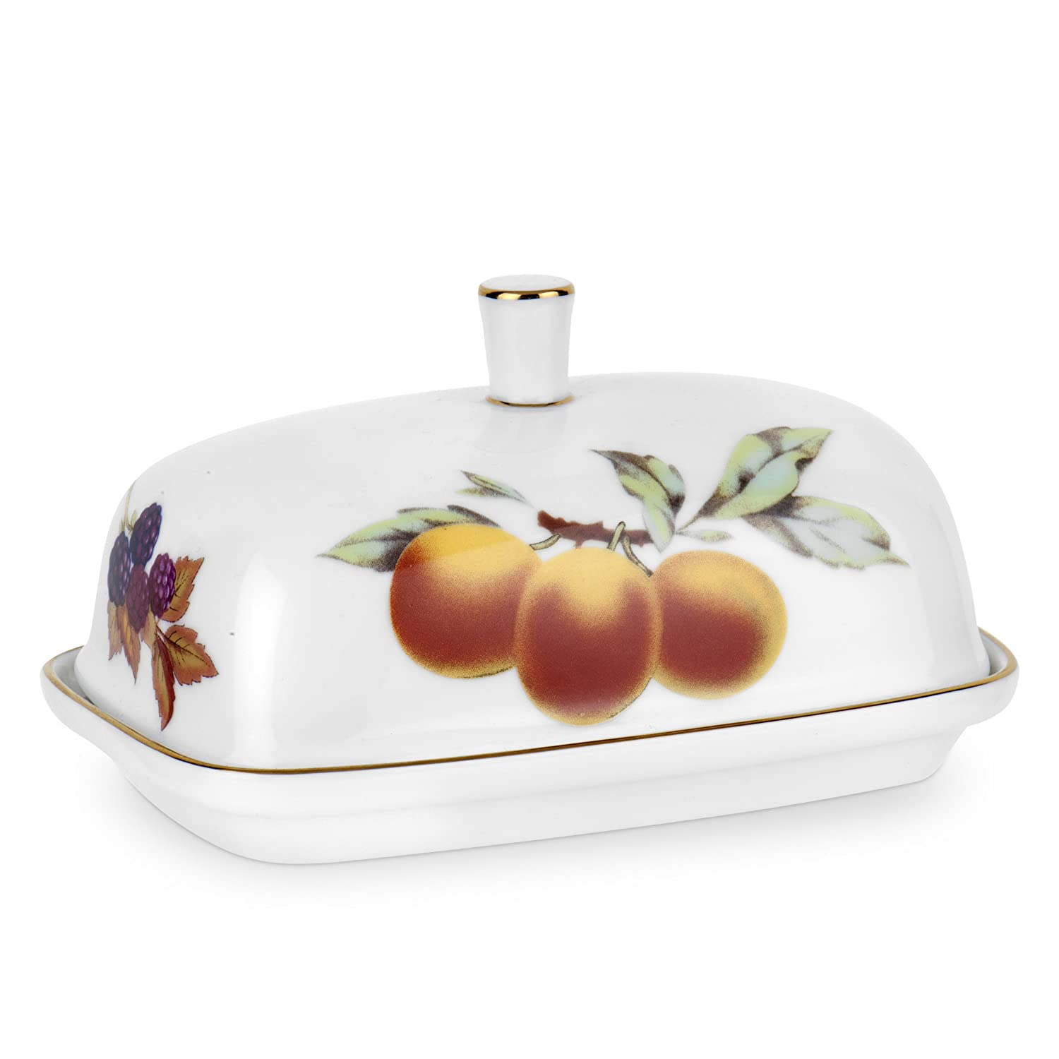 amazoncom royal worcester evesham gold covered butter dish teapots butter dishes