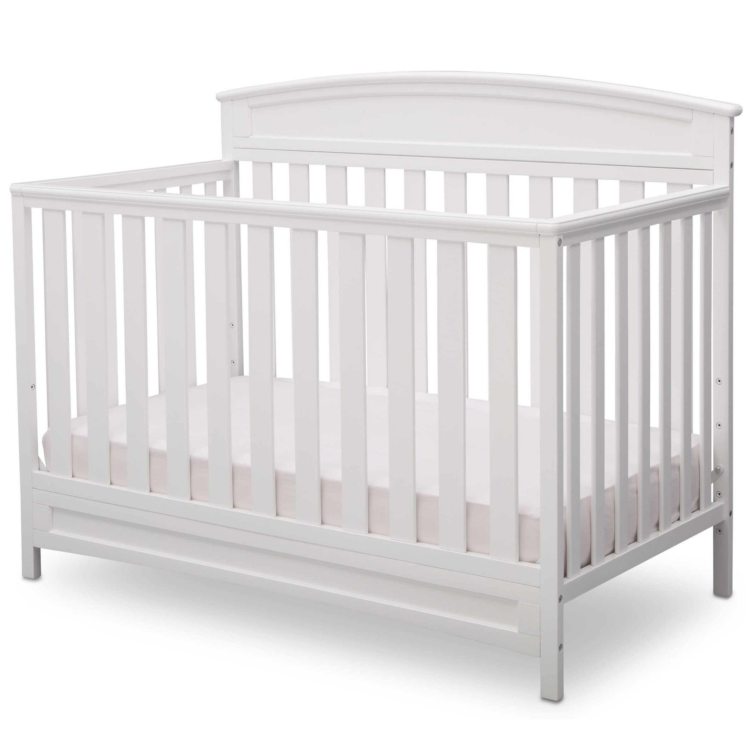 Delta Children Sutton 4 in 1 Convertible Crib, White