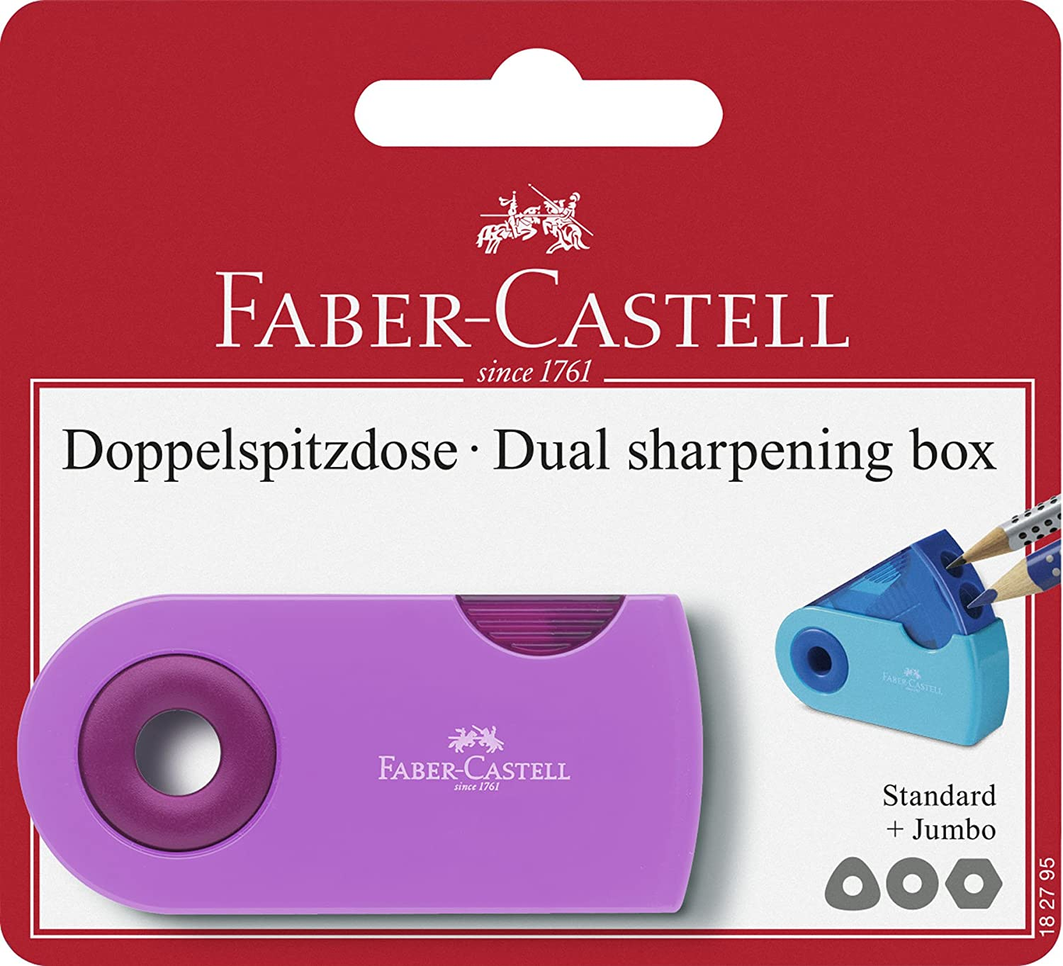 Faber-Castell 182795 - Doppelspitzdose Sleeve Trend, Anspitzer, Sortiert