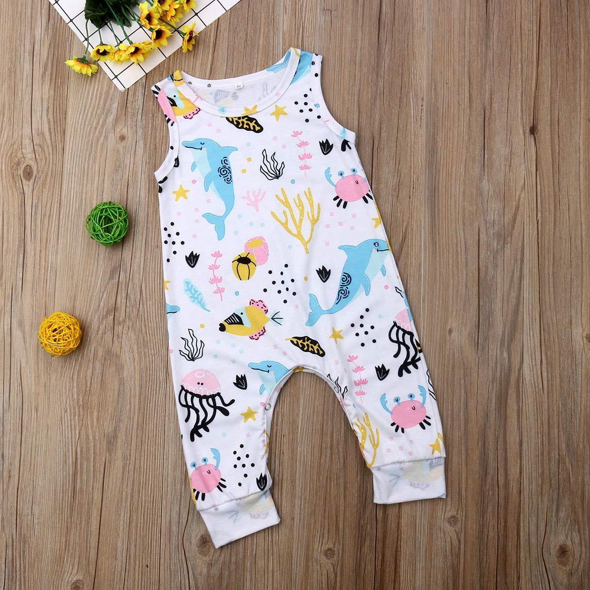 Annvivi Newborn Baby Boy Beast Mode Funny Saying Letter Romper Sleeveless Jumpsuit