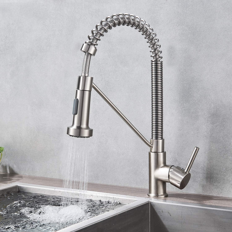 Küchenarmatur Chrom 360° Einhandmischer Wasserhahn Spültischarmatur für Küche