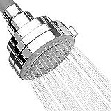 "AKDY 3.5"" Round Bath 5 Setting Multi-Function Rainfall Jet Spray Chrome Shower Head"