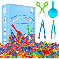 KINFAYV Water Beads - 70000 Beads 1 Scoop 2 Tweezers 1 Spoon, Soft Water Jelly Beads Motor Skills Toy Set,Non-Toxic…