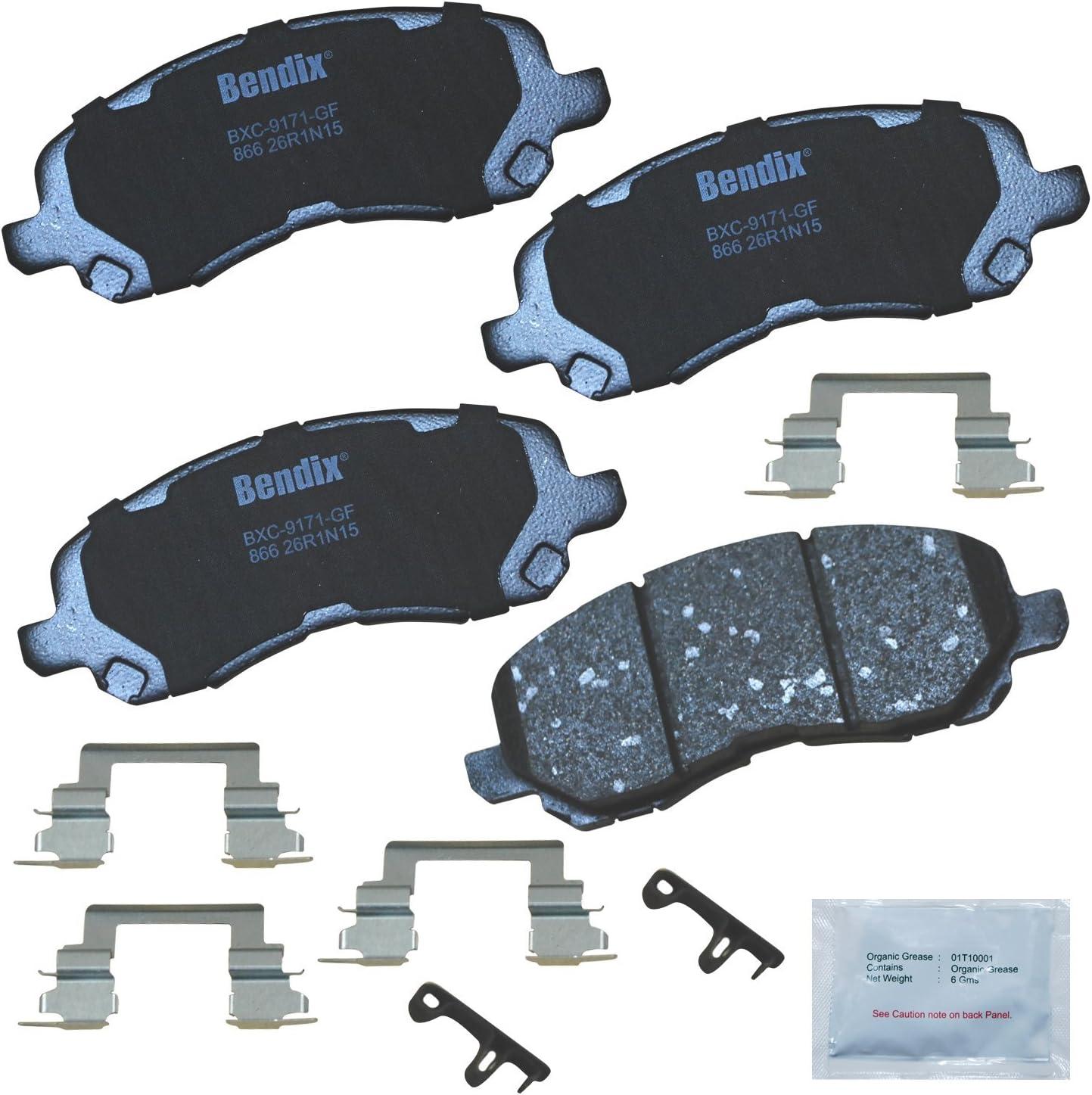 Bendix Premium Copper Free CFC866 Ceramic Brake Pad (with Installation Hardware Front)