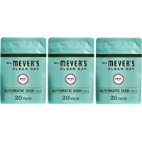 Mrs. Meyer's Clean Day Automatic Dishwasher Pods, Cruelty Free Formula Dish Soap Tablets, Basil Scent, 20 Count - Pack…