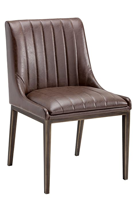 Amazon.com - Sunpan Modern Halden Dining Chair, Vintage Cognac, Set