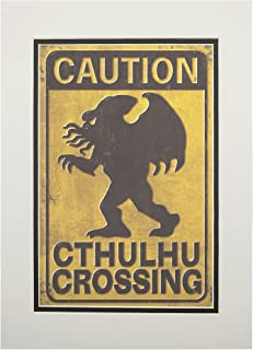 product image for Cthulhu Crossing (11x14 Double-Matted Art Print, Wall Decor Ready to Frame)