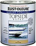 Rust-Oleum 207003 Marine Topside Paint, Sand Beige, 1-Quart