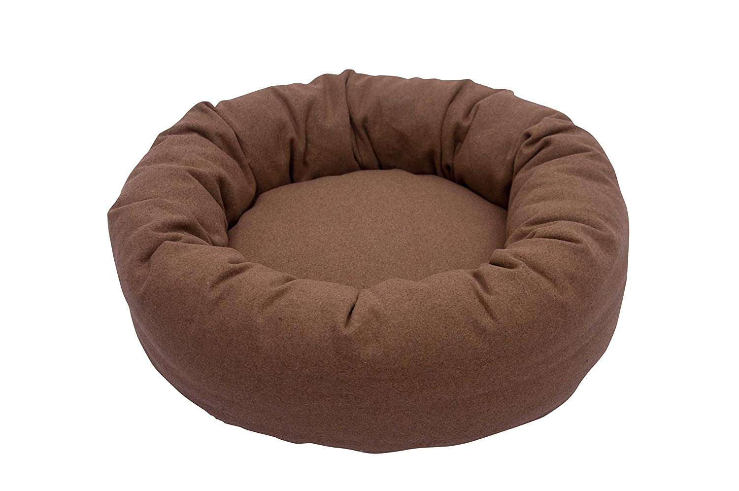 Light Brown Large Light Brown Large Iconic Pet Luxury Nestlez Round Pet Bed, Light Brown, Large