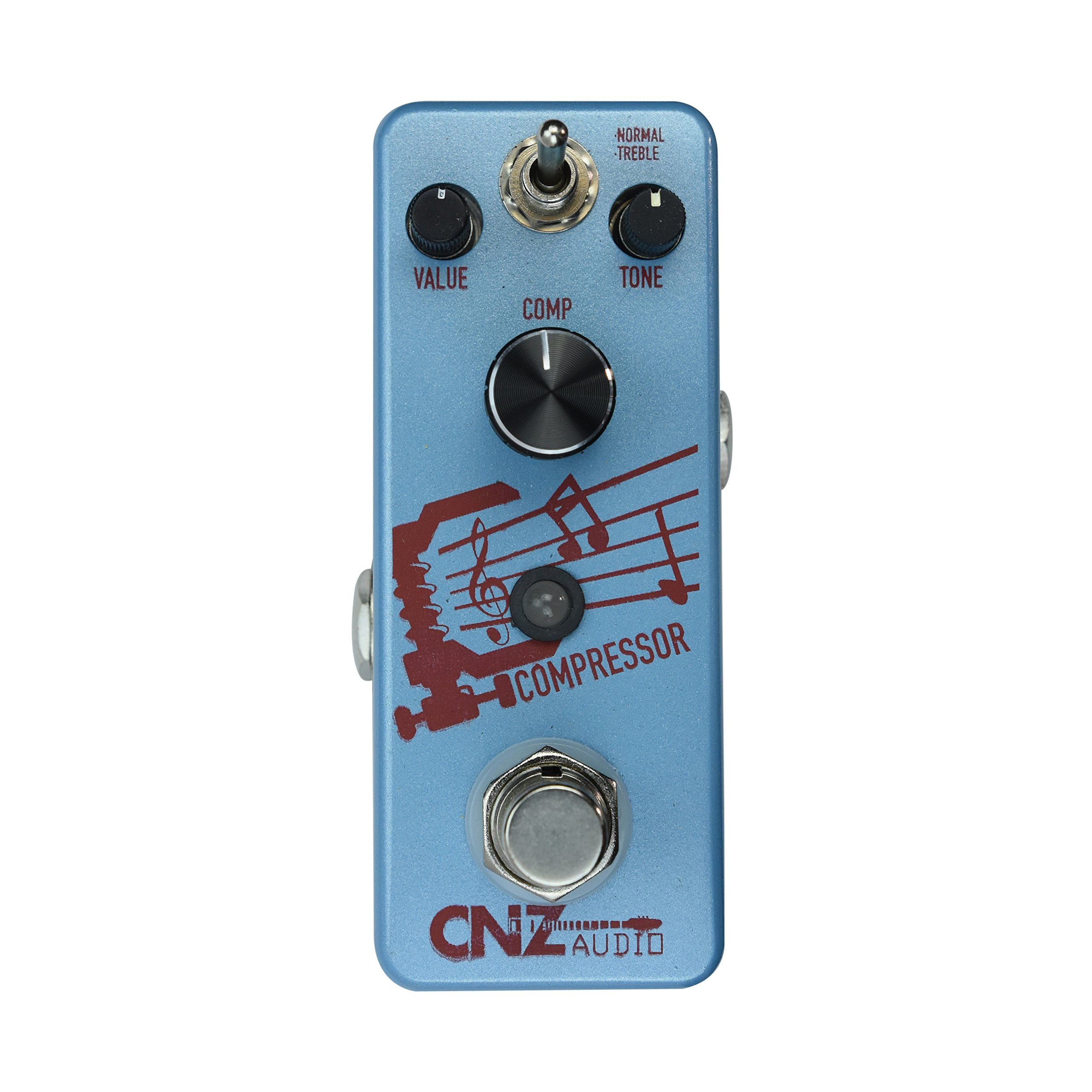 CNZ Audio Compressor - Compression Guitar Effects Pedal, True Bypass
