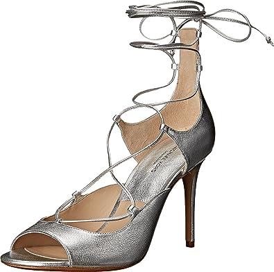 Michael Kors Women's Valerie Silver Metallic Nappa Pump 36 (US Women's ...