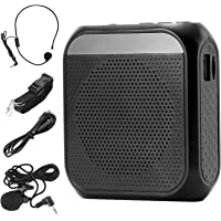 ZITFRI Amplificador de Voz Portatil Recargable de 2200 mAh, con Micrófono, Auricular y Cintura, Altavoz Portatil Flash…