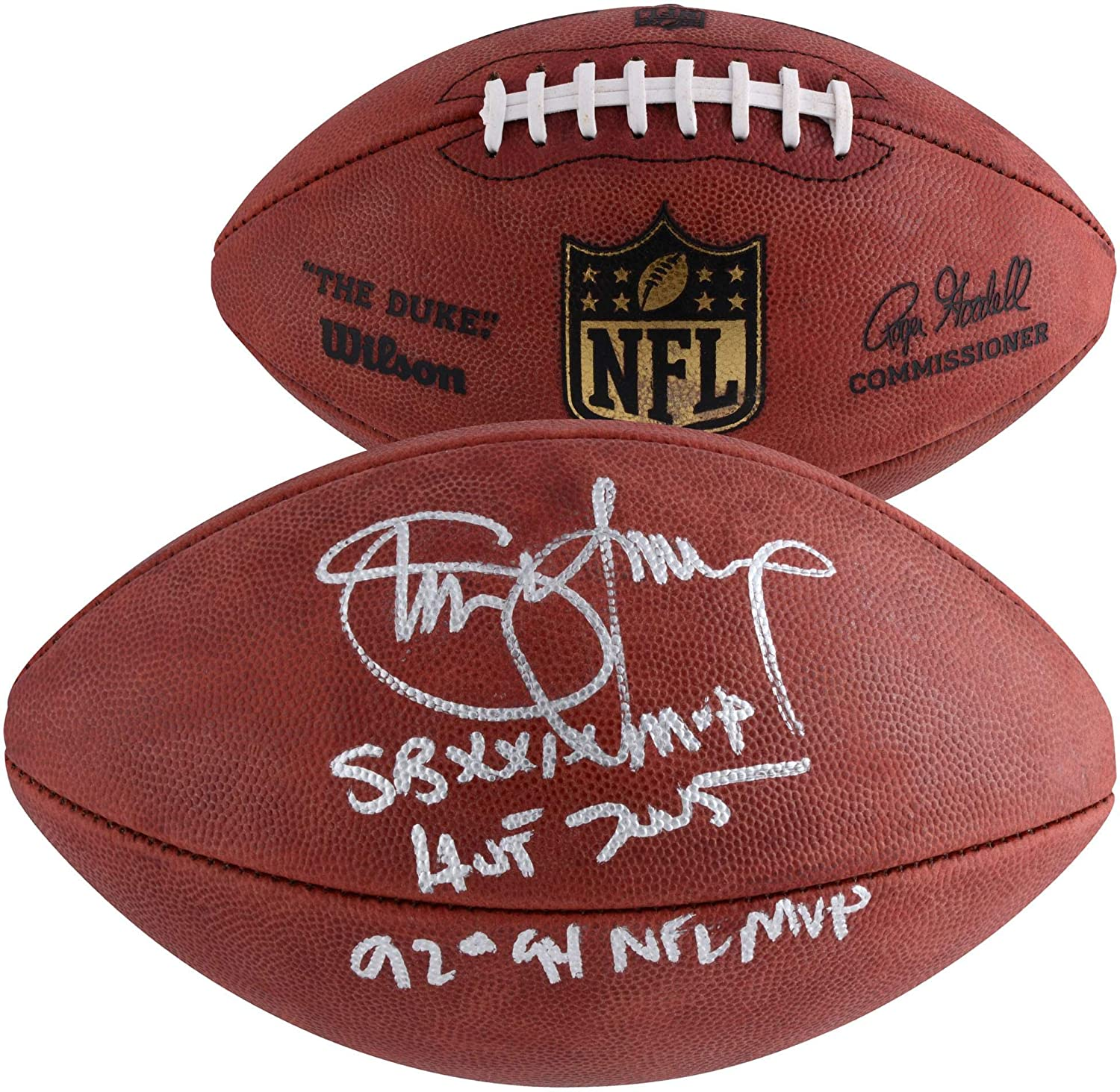 833ac75ec35 Steve Young San Francisco 49ers Autographed Duke Pro Football with Multiple  Inscriptions - Limited Edition of 8 - Fanatics Authentic Certified at  Amazon s ...